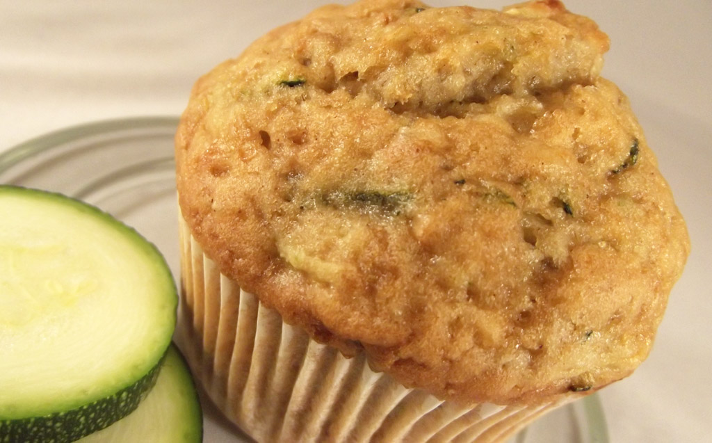 savory whole wheat zucchini muffins with feta parmesan and green ...